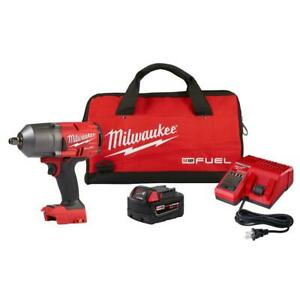 """Milwaukee M18 FUEL 18-Volt Cordless 1/2"""" Impact Wrench w/Friction Ring Kit"""