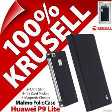 Krusell Malmo Rabattable Étui Fin Pied Portefeuille Folio Protection Texturée