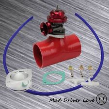 """RED BOV BLOW OFF VALVE 30PSI+3"""" SILICONE COUPLER UNIVERSAL FOR HONDA CIVIC DC2"""