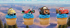 12 x DISNEY CARS commestibili STAND UP decorazioni per cupcake (Uncut) qualità wafer carta