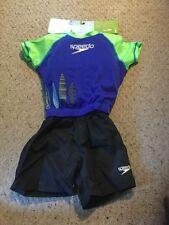 New Speedo Begin To Swim UV Flotation Suit.  Boys S/ M. Lime, Blue, Black.