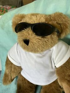 Vermont teddy bear Tattoo Of MOM Sunglasses Bendable Arms Legs Used