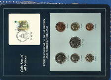 Coin Sets of All Nations Great Britain 1988-1989 UNC 1£, 20 pence 1988