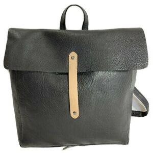 Authentic Medium Black Leather Backpack Bag