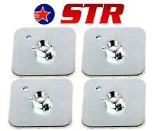 Racing Cablaggio / Cintura di Sicurezza Montaggio Piastra Posteriore Supporto, occhielli PIASTRE (X4 PEZZI)
