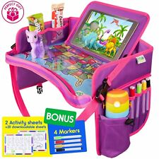 Kids Car Seat Travel Tray - Activity Tray Table For Toddler - Baby Travel Desk