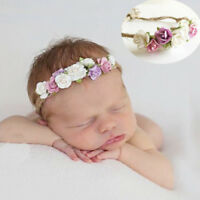 Toddler baby girls kids flower party headband hair band photo prop lovely  LJ