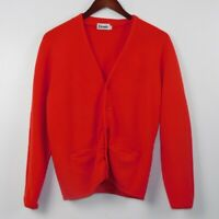 Etonic Sportswear By Eaton Cardigan Sweater Size M Red Button Down Long Sleeve