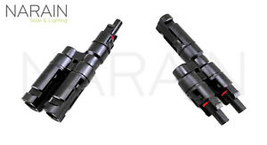 Compatible with MC4 Solar Panel Branch Connector (One Set, Male & Female)
