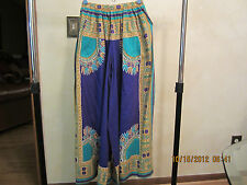 Vintage Women's BoHo Hippie Harem Pants/Skirt-1960's-70's-Great Pattern & Bright