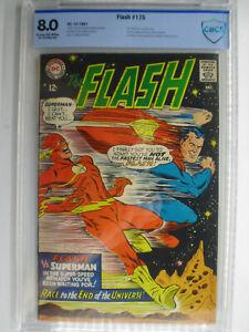 Flash #175, Superman / Flash Race, CBCS, Very Fine, 8.0, Cream/OW Pages