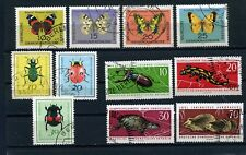 Germany East (DDR) Wildlife insects butterflies & mamals -1962 1964 & 1968  used