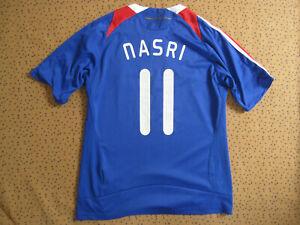 Maillot Equipe France Adidas Vintage 2007 Nasri #11 Jersey les bleus - S