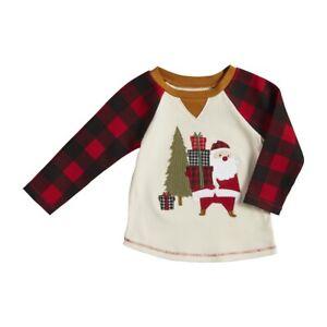 Mud Pie H1 Kids Alpine Village Boy's Christmas Tee T-Shirt - Santa Choose Size