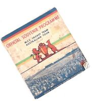 1936-1937 Official Souvenir Programme MCC Cricket Team Australian Tour, Bradman