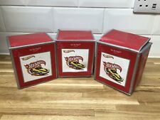 Hot Wheels : Christmas ornament collection : Yur So Fast - new & boxed x 3