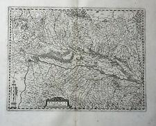 FRANKREICH ELSASS BREISGAU BASEL SUNDGAU JANSSONIUS KUPFERSTICHKARTE 1658