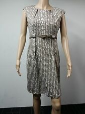 NEW - Connected Apparel - Sleeveless Knee Length Dress - Size 10P - Beige - $79