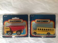 MATCHBOX N° MB 47 SCHOOL DISTRICT + MB 53: DUMP TRUCK NEUF BOITE MINT BOX