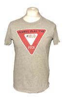 Abercrombie & Fitch Men's T Shirt Grey Play The Field Short Sleeve Medium