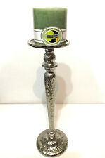 Rough Nickel Pillar Candle Holder (B)