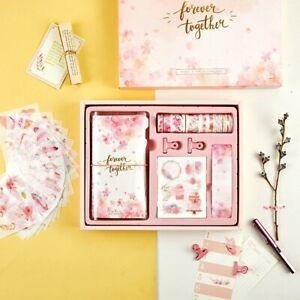 """""""Sakura Scrapbooking Gift Pack"""" Diary Planner Stickers Washi Tapes Clips Cards"""