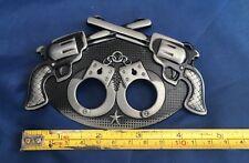 Pistols & Handcuffs Belt Buckle Metal Brand New Unworn Unused