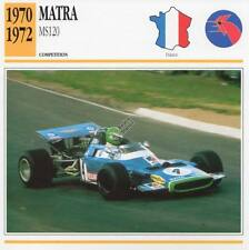 1970-1972 MATRA MS120 Racing Classic Car Photo/Info Maxi Card