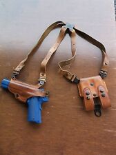 Galco 213 Brown Leather Miami Classic Shoulder Holster Colt .45 1911 Left