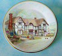 Royal Vale Bone China England Decorative Plate English Countryside Cottage Scene