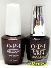 OPI GelColor & Infinite NUTCRACKER - HP K12 & K27- Black to Reality