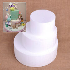 Round Polystyrene Styrofoam Foam Cake Dummy Wedding Party Decoration DIY Craft