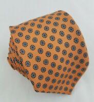 Polo by Ralph Lauren Skinny Peach Geometric Pattern Mens Silk Tie