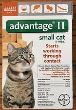 K9 Advantage II / 2 9 Flea Drop Medicine for Cats 6 Pack K-9 6 Month Supply NEW