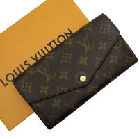 Auth Louis Vuitton Monogram Portefeuille Sarah Long Wallet Brown M62236 h24999a