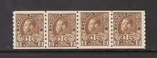 Canada #MR7iv VF Mint Paste Up Strip Of Four **With Certificate**
