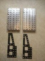 Original Erector Set Turret plates black painted set of 4 part BN