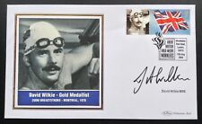 More details for olympic gold medal winners benham 2004 postal cover signed david wilkie montreal