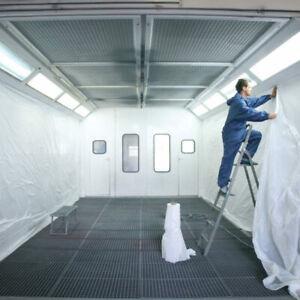 Kabinenfolie 260cm x 200m für Lackierkabine Polyethylen weiss Horn&Bauer 301777