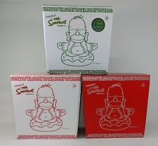 "Kidrobot Homer Simpson Buddha 3-Pack Original Yellow, Silver and Jade 7"" Vinyl"