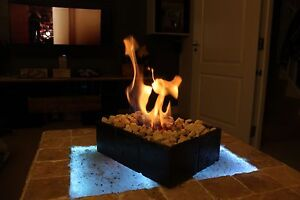 Bio Ethanol Fire Fireplace Burner In/Out Door Patio Heater Portable Hand Made