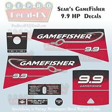 Sears Gamefisher 9.9HP Outboard Reproduction 8 Piece Marine Vinyl Decals