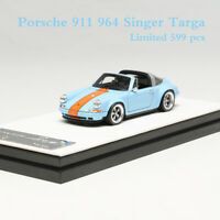 Timothy&Pierre Porsche 911 (964) Singer Targa 1:64 Gulf Limited Resin Car Model