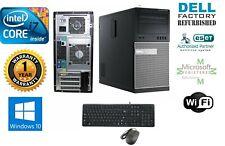 "Dell 990 TOWER i7 16GB 500GB SSD Win 10 Pro CD-RW Blue-Ray GT730 2GB+Monitor 20"""