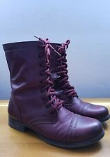 "Steve Madden ""Troopa"" Wine Leather Women's Boots  Size 7"