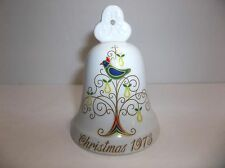 Noritake Bone China Bell Christmas 1973 Second Edition Partridge In A Pear Tree