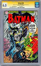 BATMAN #180 CGC-SS 6.5 SIGNED *ADAM WEST & BURT WARD* ORIG 1960'S TV SERIES 1966