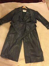 SIERRA LEATHER TRENCH COAT SPECIAL MADE FOR BALTIMORE MARYLAND USA.