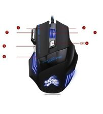 USB SUPER NEW Gaming Maus PC LAPTOP GAMER  2ms 7 Tasten HIGH END