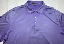 Peter Millar Summer Comfort Men's Golf Club Polo Purple Shirt Size XL